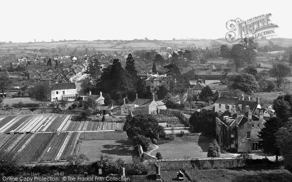 Photo of Thornbury, the Town from the Church Tower c1955, ref. t107015