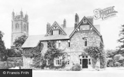 Thornbury, The Vicarage And Church Tower c.1960