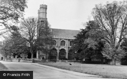 Thorney, The Green And Abbey c.1955