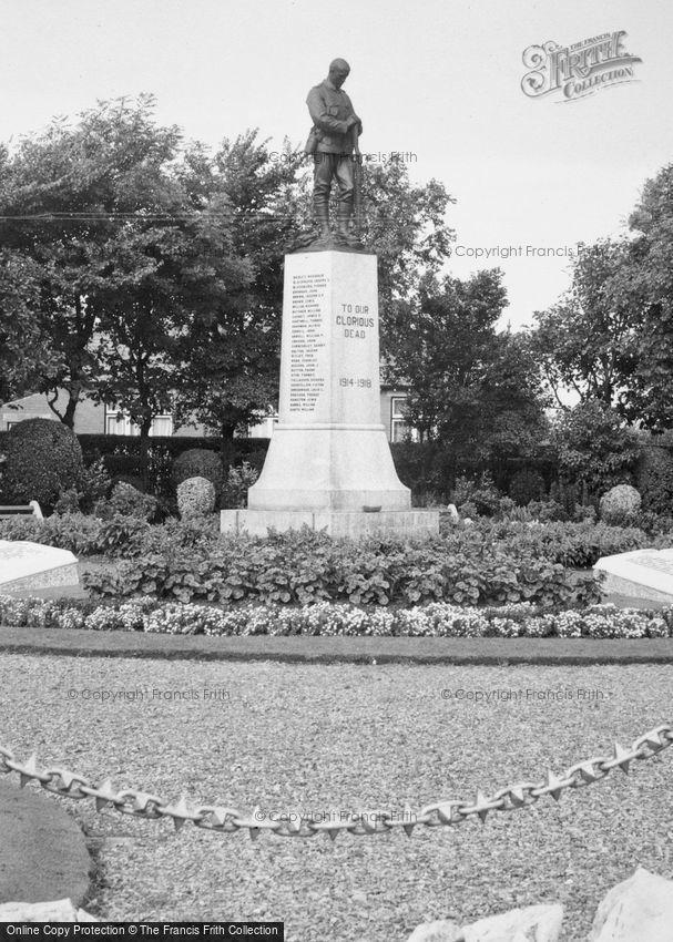Thornton Cleveleys, War Memorial c1955