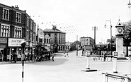 Thornton Heath, Clock Tower and Brigstock Road c1947