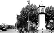 Thornton Heath, Clock Tower and Parchmore Road c1947