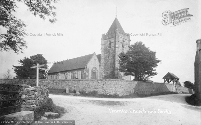 Photo of Thornton In Lonsdale, St Oswald's Church And Stocks c.1920
