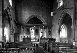 Thorpe Arnold, St Mary's Church, The Nave c.1955