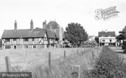 Thorpeness, Almshouses And Dolphin Inn From Aldringham Road c.1955