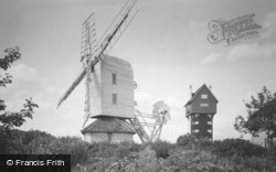 Thorpeness, the House in the Clouds and Post Mill c1955