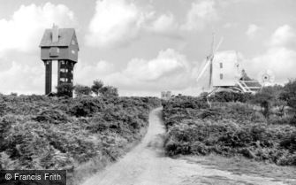Thorpeness, the House in the Clouds and Post Mill c1960