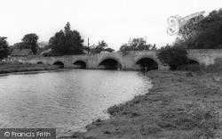 Thrapston, River Nene And Bridge c.1960