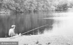 Thrapston, The Lakes, An Angler c.1960