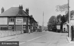 Three Bridges, The Plough Inn And Village c.1960