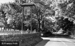 Threshfield, Long Ashes Guest House Entrance, Netherside c.1950