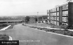 The View From Woodlands Court c.1960, Throckley