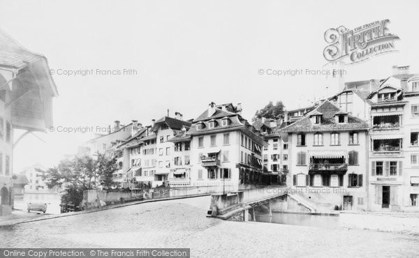 Photo of Thun, River And Hotel c.1875