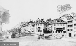Thun, River And Hotel c.1875