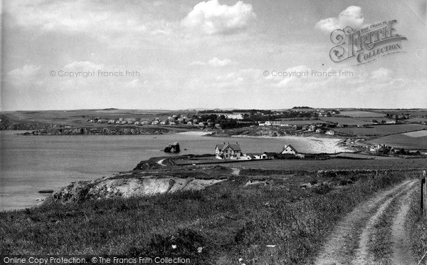 Photo of Thurlestone, from the Cliffs c1960