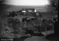 Links Hotel From Church c.1950, Thurlestone
