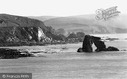 Thurlestone Rock And Cliff c.1950, Thurlestone