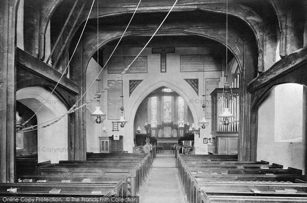 Photo of Thursley, Church Interior 1908