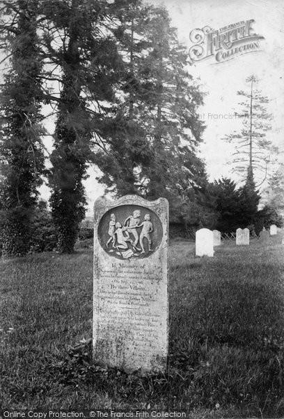 Photo of Thursley, Churchyard, Sailor's Gravestone 1908