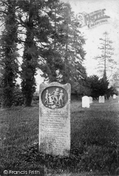 Thursley, Churchyard, Sailor's Gravestone 1908