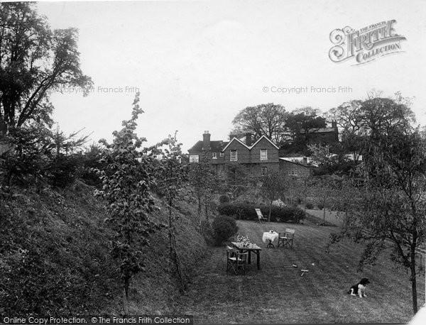 Photo of Thursley, Red Lion Inn, The Garden 1927