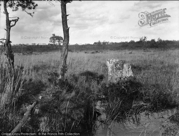 Photo of Thursley, Thor's Stone 1925