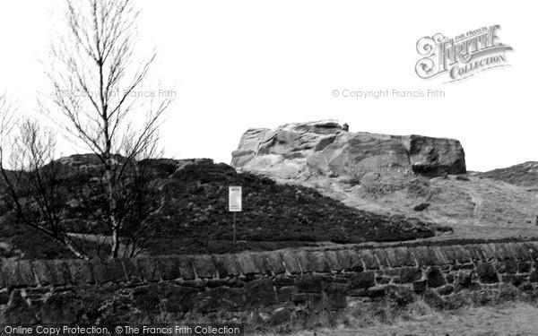 Photo of Thurstaston, Thor's Stone c1955