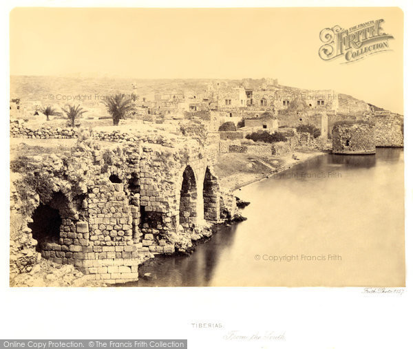 Photo of Tiberias, From The South 1857