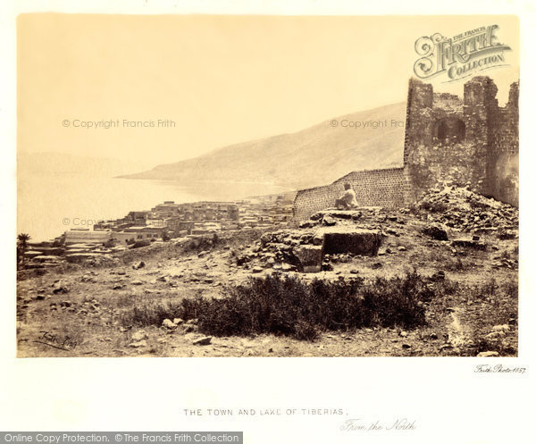 Photo of Tiberias, The Town And Lake From The North 1857