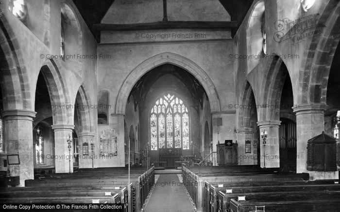 Photo of Ticehurst, St Mary's Church Interior 1925
