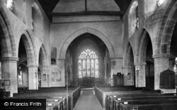 Ticehurst, St Mary's Church Interior 1925