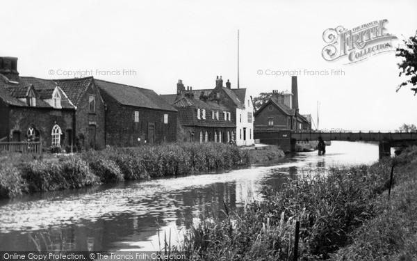 Photo of Tickton, River Hull And Swing Bridge c.1955