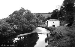 Tideford, The River Tiddy c.1960