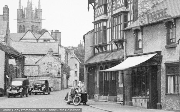 Photo of Tideswell, Bike And Sidecar In Queen Street c.1950