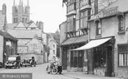 Bike And Sidecar In Queen Street c.1950, Tideswell