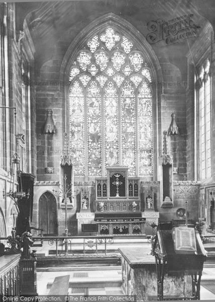 Photo of Tideswell, Church Altar 1896