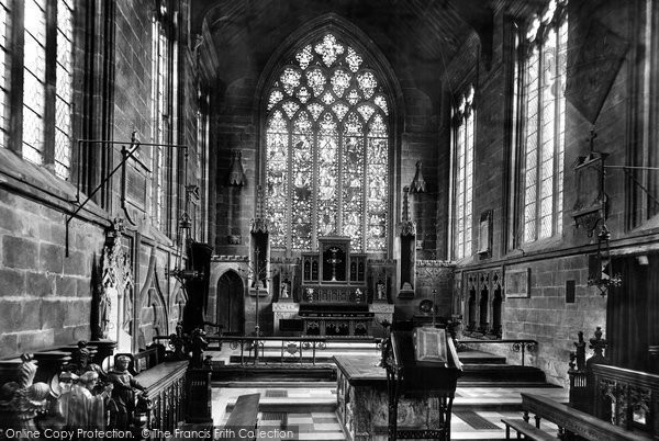 Photo of Tideswell, Church Chancel 1896