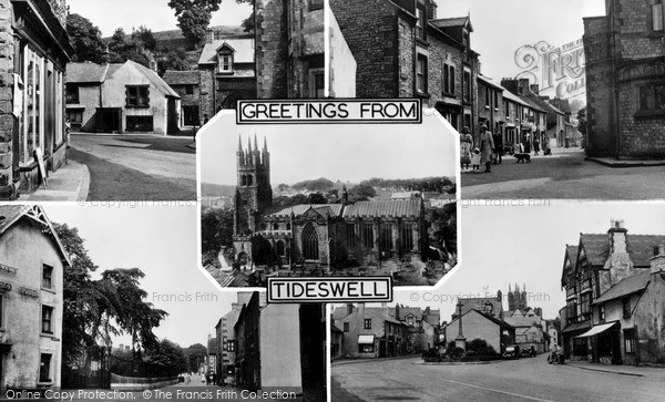 Photo of Tideswell, Composite c.1955