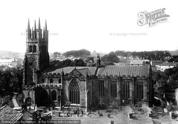 Photo of Tideswell, St John's Church 1896