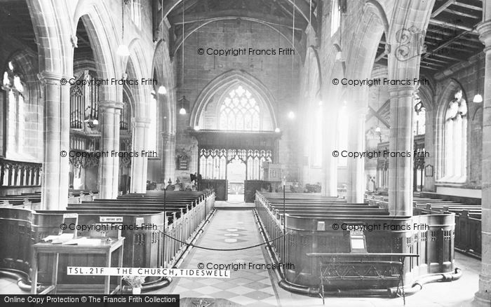 Photo of Tideswell, The Church Interior c.1960