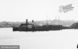 Tilbury, A Boat On The Thames c.1960