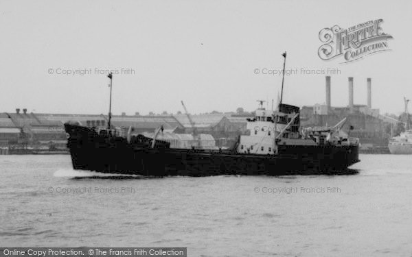 Photo of Tilbury, A Boat On The Thames c.1960