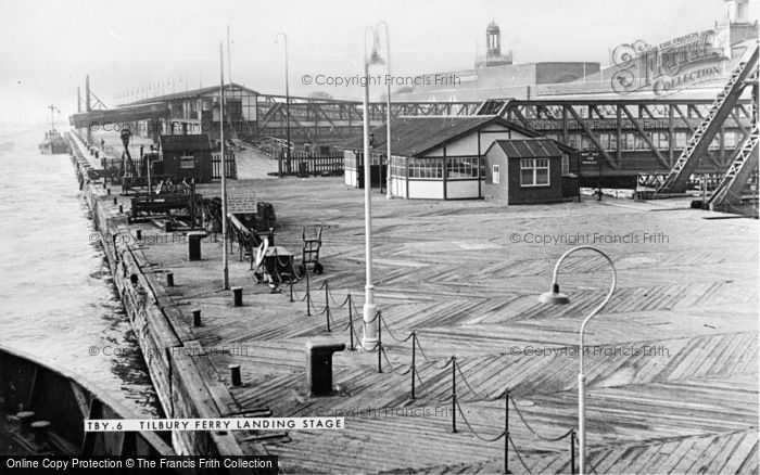 Photo of Tilbury, The Ferry Landing Stage c.1955