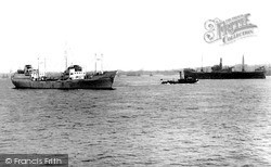 Tilbury, The Thames c.1955