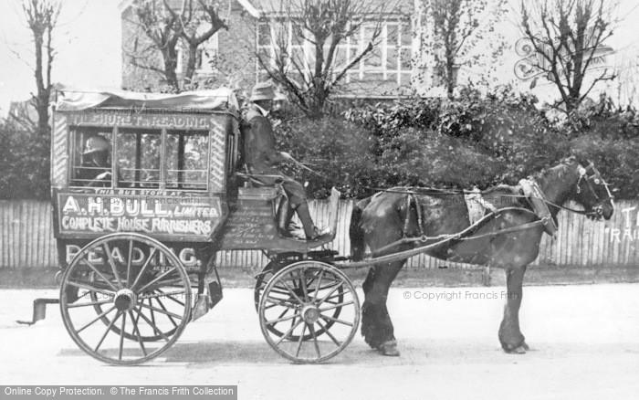 Photo of Tilehurst, Horse Drawn Bus c.1900
