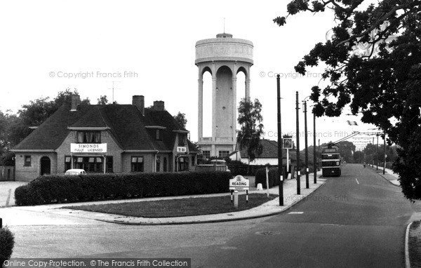 Photo of Tilehurst, The Bear And Water Tower c.1960