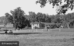Cricket On The Green c.1955, Tilford