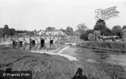 The River And Bridge c.1955, Tilford