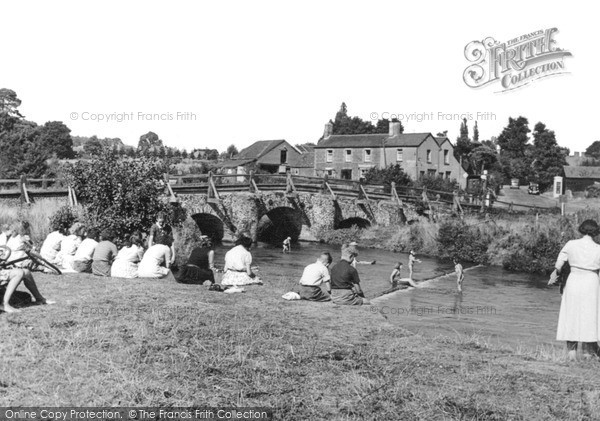 Tilford, the river and bridge, c.1955 Reproduced courtesy of The Francis Frith Collection