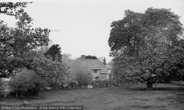 Photo of Tilshead, Thatched Cottage c.1955